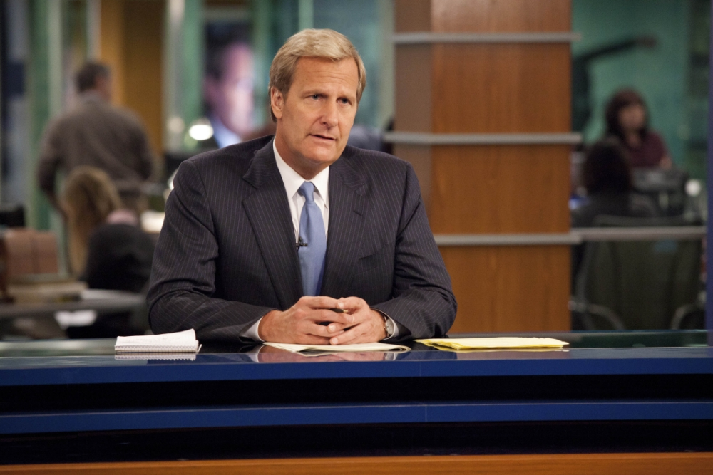 The Newsroom with Jeff Daniels as Will. (Picture: Home Box Office)