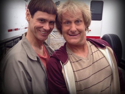 Jim Carrey and Jeff Daniels post first Dumb and Dumber To pictures on Twitter