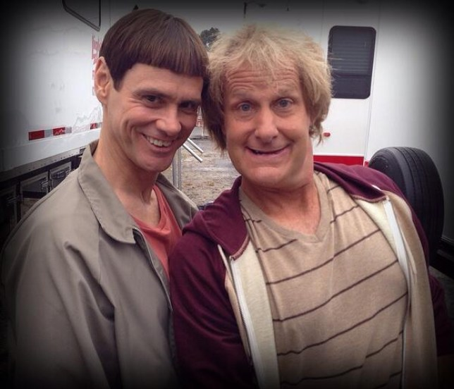 Almost 20 years after the original film, Jim Carrey and Jeff Daniels are back as Lloyd and Harry (Picture: Twitter/Jeff Daniels)