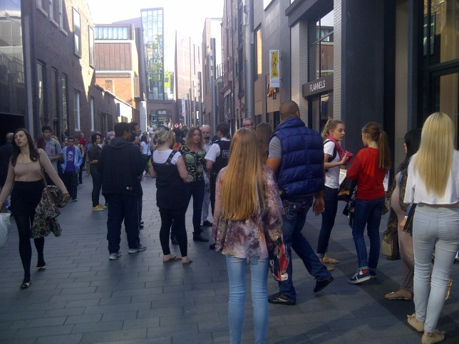 Protesters from Fur Free Liverpool gather outside the Flannels store in Liverpool ONE. The designer chain has been accused of selling real fur