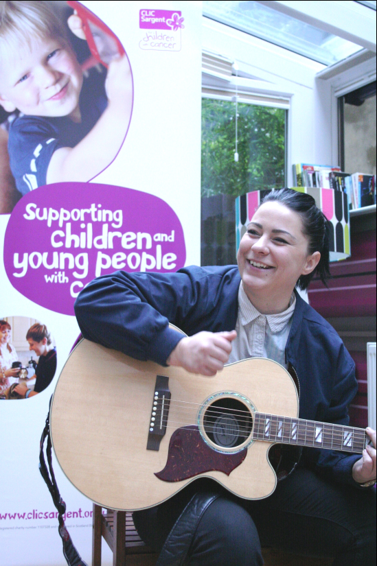Lucy Spraggan is happily loved up with her girlfriend (Picture: CLICSargent)