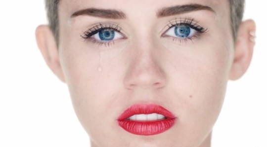Miley couldn't hide her disappointment at not getting that Chanel bag again (RCA/Vivo)