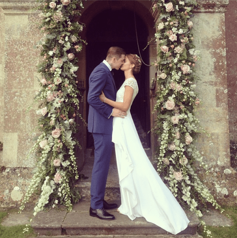'Best day of my life': Millie Mackintosh shares cute pictures as she marries Professor Green