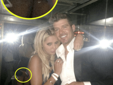 Robin Thicke hails 'inspirational' wife after Lana Scolaro grope scandal