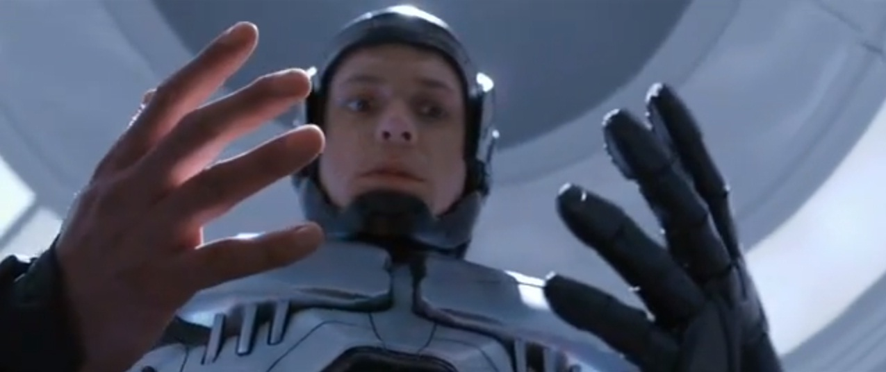 Joel Kinnaman stars in the Robocop remake (Picture: YouTube/Columbia Pictures)