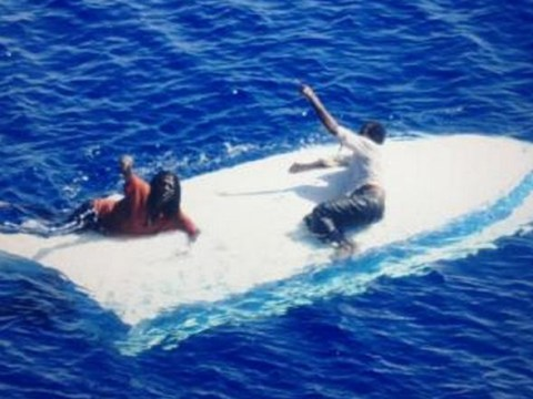 Two Bahamian men rescued after eight days on their capsized boat off Florida coast