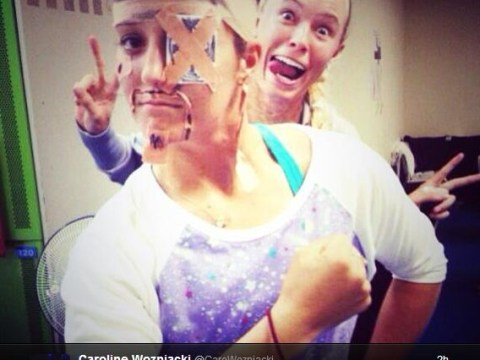 Caroline Wozniacki and Laura Robson get up to high jinx on WTA tour in Japan