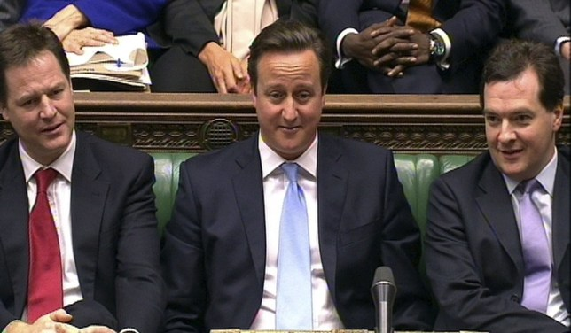 Does Ed Balls come gift-wrapped? A bizarre PMQs present for birthday boy David Cameron