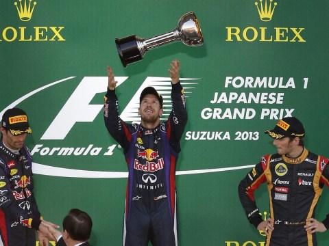 Sebastian Vettel wins Japanese Grand Prix but Fernando Alonso keeps the championship race alive