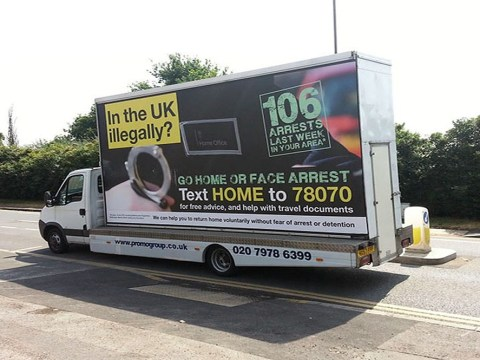 'Go home' illegal immigrant van scheme to be scrapped, Theresa May admits
