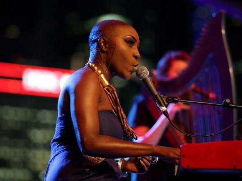 Laura Mvula doesn't worry about her looks as she spruces up for the 2014 Bafta Awards