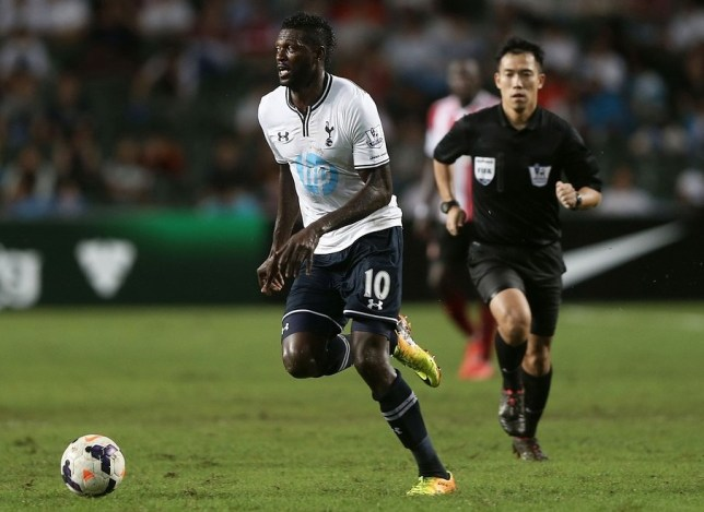 Emmanuel Adebayor has not featured for Spurs this season (Picture: Getty Images)