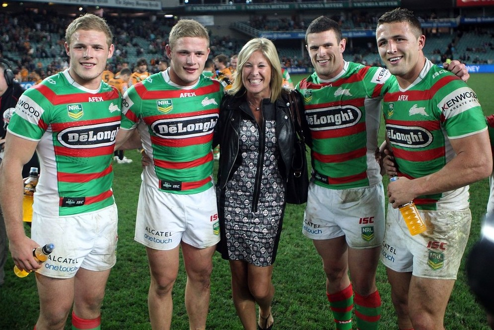Burgess brothers, from left, Thomas, George, Luke and Sam, pose with their mother Julie  (Picture: AP)