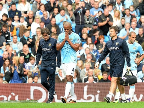 Manchester City captain Vincent Kompany ruled out for up to four weeks with thigh strain