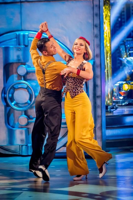Rachel Riley and Pasha on Strictly