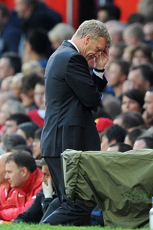 Manchester United manager David Moyes appears dejected. PA Wire/Press Association Images