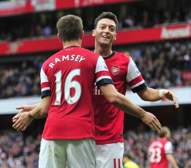 Mesut Ozil has made an instant impact at the Emirates Stadium (Picture: AFP/Getty Images)