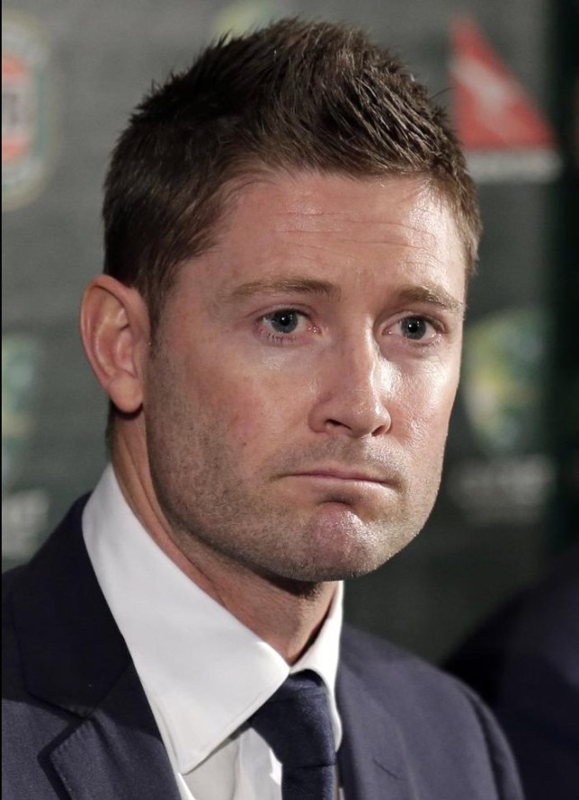 Australian test cricket captain Michael Clarke comments in Sydney, Australia, Wednesday, April 24, 2013, following the announcement of the squad to tour England for the Ashes series. Australia will play England in 10 consecutive tests, commencing with a five-match series in England starting July 10. (AP Photo/Rick Rycroft) AP Photo/Rick Rycroft