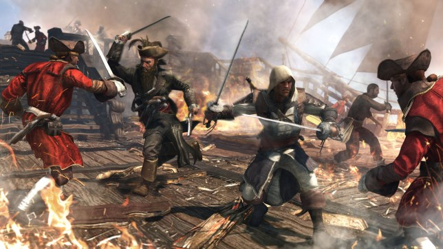 Assassin S Creed Iv Black Flag Ps4 Review Video Game Piracy