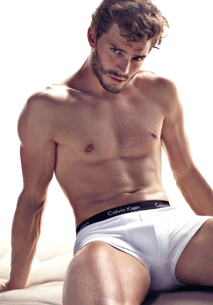 Jamie Dornan has already had lots of practise stripping off as an underwear model (Picture: Calvin Klein)