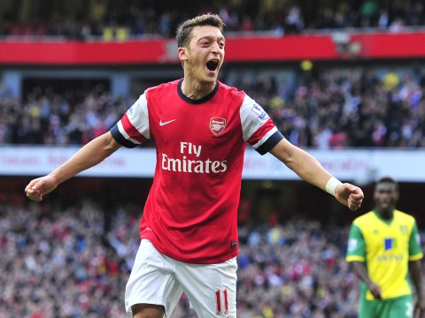 Mesut Ozil hits brace as Arsenal crush Norwich and go top of Premier League