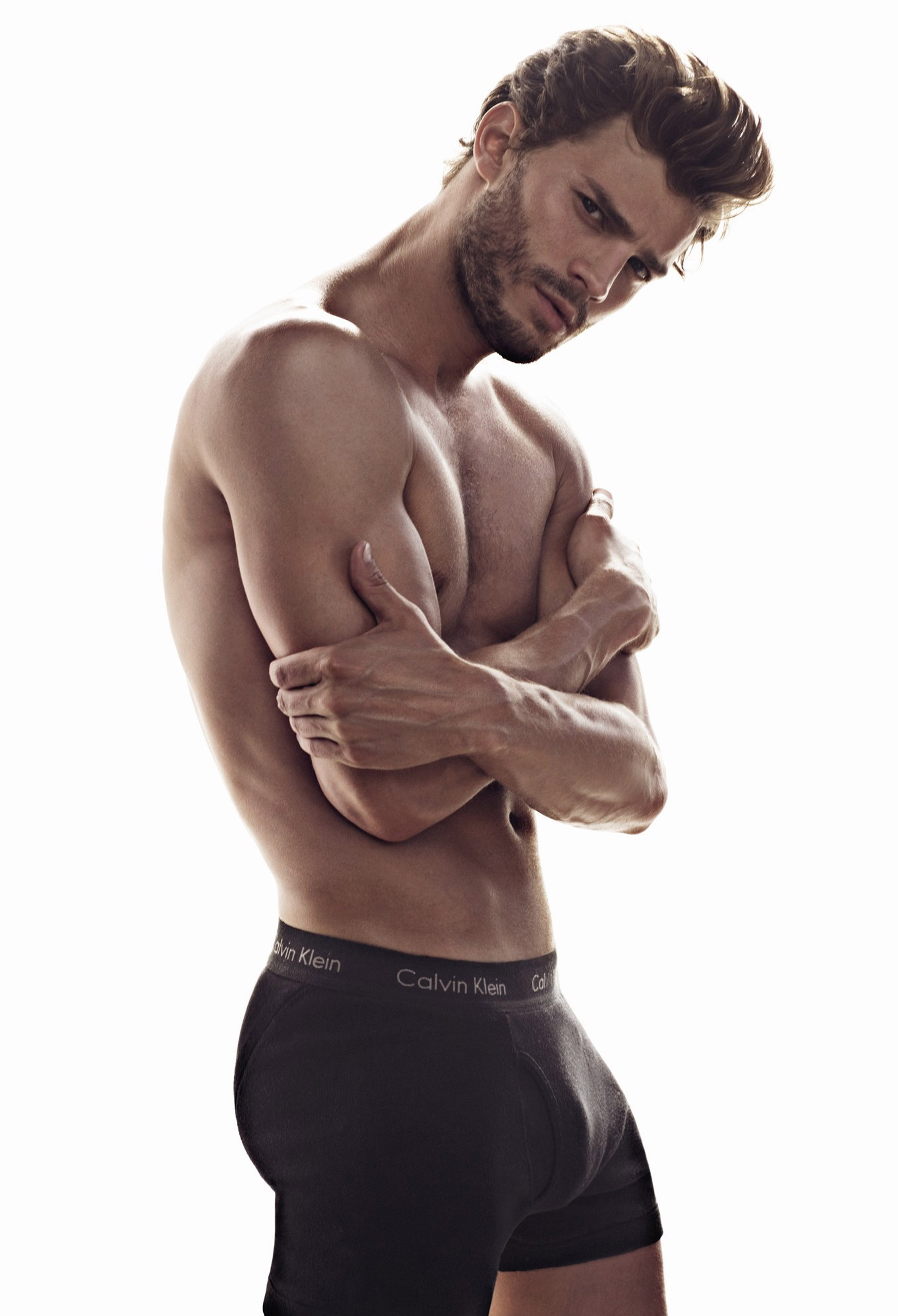 Jamie Dornan will take over from Charlie Hunnam as Christian Grey (Picture: Calvin Klein)