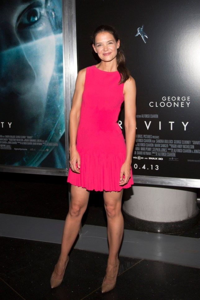 "Actress Katie Holmes arrives for the film premiere of ""Gravity"" in New York October 1, 2013. REUTERS/Andrew Kelly (UNITED STATES - Tags: ENTERTAINMENT)"