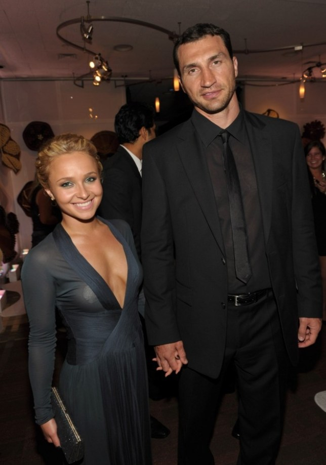 FILE  OCTOBER 09:  Hayden Panettiere has confirmed October 9, 2013 that she is engaged to boxer Wladimir Klitschko. BEVERLY HILLS, CA - JANUARY 16:  Actress Hayden Panettiere and boxer Wladimir Klitschko attend the InStyle and Warner Bros. 68th annual Golden Globe awards post-party at The Beverly Hilton hotel on January 16, 2011 in Beverly Hills, California. (Photo by John Shearer/Getty Images)