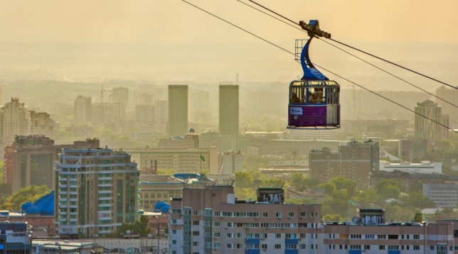 Take a ride in a cable car and experience Almaty from the sky (Picture: supplied)