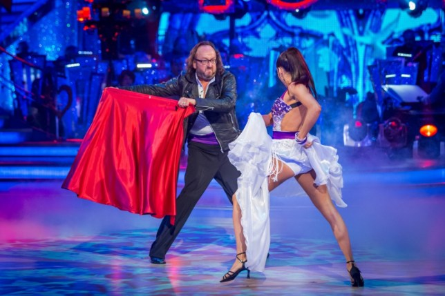 Karen Hauer and Dave Myers performing during rehearsals for the BBC programme Strictly Come Dancing. (Picture: PA)