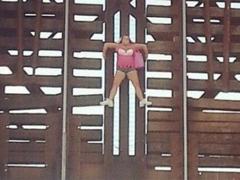 Woman clings on to bridge for dear life after ignoring alarm that it was opening