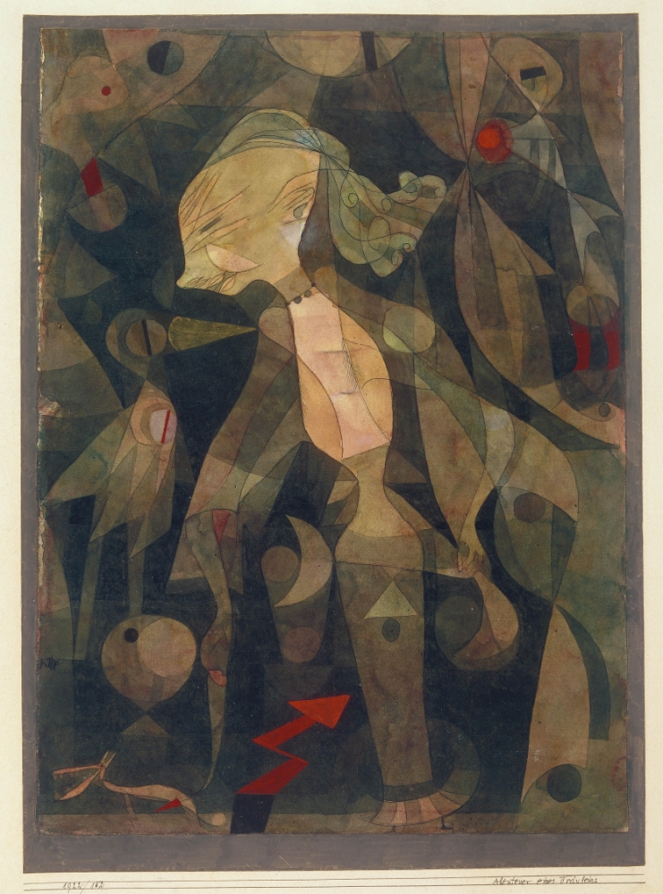 A Young Lady's Adventure (1922) by Paul Klee at TAte Modern (Picture: Tate Photography)