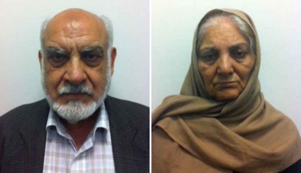 Undated handout photos issued by Greater Manchester Police of Ilyas Ashar and his wife Tallat Ashar. PRESS ASSOCIATION Photo. Issue date: Wednesday October 16, 2013. A pensioner who trafficked a deaf and mute orphan into the UK, using her to milk the benefits system, was today found guilty of repeatedly raping the girl. Ilyas Ashar, 84, sexually abused his vulnerable victim repeatedly, Minshull Street Crown Court in Manchester heard. His wife, Tallat Ashar, 68, was found guilty of two counts of trafficking a person into the UK for exploitation and four counts of furnishing false information to obtain a benefit. See PA story COURTS Trafficking. Photo credit should read: Greater Manchester Police/PA Wire NOTE TO EDITORS: This handout photo may only be used in for editorial reporting purposes for the contemporaneous illustration of events, things or the people in the image or facts mentioned in the caption. Reuse of the picture may require further permission from the copyright holder.