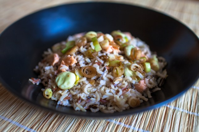 Soy Salmon With Wild Rice (Picture: Olly Jones)