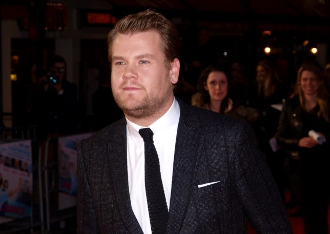 James Corden arrives at the premiere of One Chance