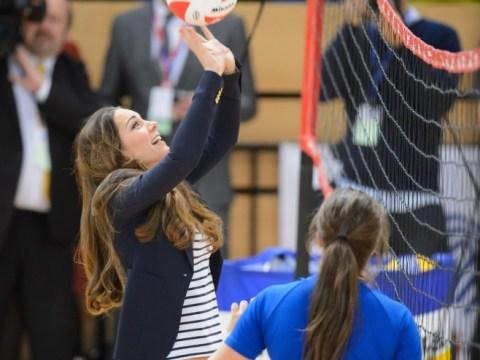 Gallery: Kate Middelton visits SportsAid workshop