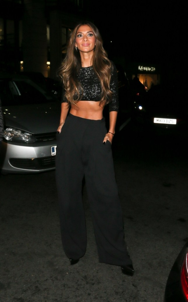 21 October 2013 - LONDON - UK  X FACTOR JUDGES HEAD TO CHINA TANG AT THE DORCHESTER AFTER THE LIVE SHOW! NICOLE SCHERZINGER WAS SEEN BEARING HER MIDRIFF AND SHOWED A VERY SKINNY FRAME AS SHE HEADED TO THE POPULAR EATERY WITH LOUIS WALSH AND GARY BARLOW! BYLINE MUST READ : XPOSUREPHOTOS.COM  ***UK CLIENTS - PICTURES CONTAINING CHILDREN PLEASE PIXELATE FACE PRIOR TO PUBLICATION ***  **UK AND USA CLIENTS MUST CALL PRIOR TO TV OR ONLINE USAGE PLEASE TELEPHONE  44 (0) 208 370 0291 or 1 310 600 4723