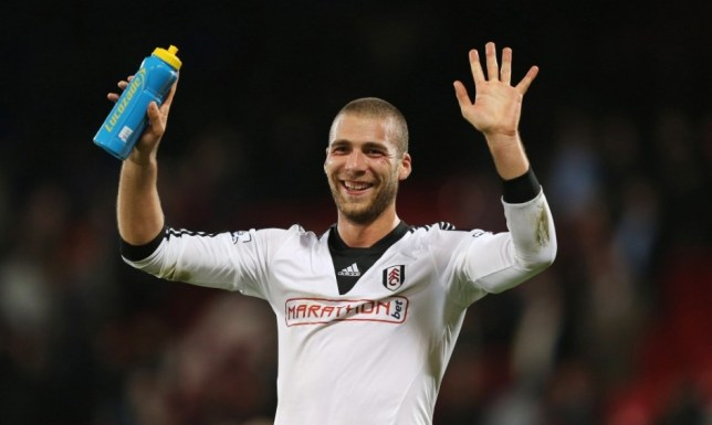 Football - Crystal Palace v Fulham - Barclays Premier League  - Selhurst Park - 21/10/13  Fulham's Pajtim Kasami celebrates at the end  Mandatory Credit: Action Images / Peter Cziborra  Livepic  EDITORIAL USE ONLY. No use with unauthorized audio, video, data, fixture lists, club/league logos or ìliveî services. Online in-match use limited to 45 images, no video emulation. No use in betting, games or single club/league/player publications.  Please contact your account representative for further details.