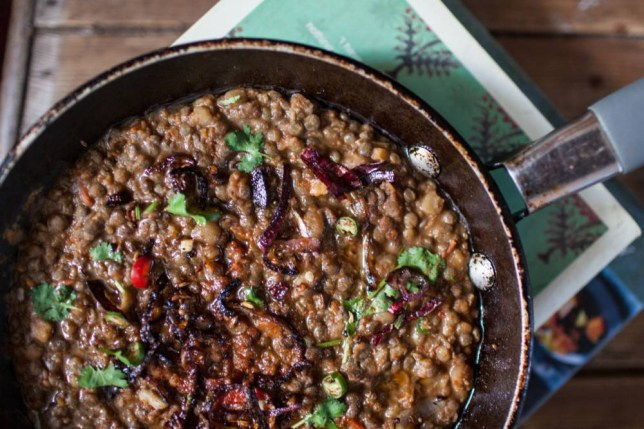 Dal, the signature lentil dish making its way to the top table (Picture: Oli Jones)