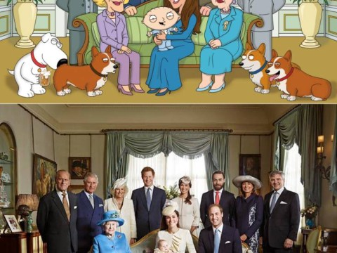 Family Guy celebrates royal christening as Stewie takes Prince George's place in photo