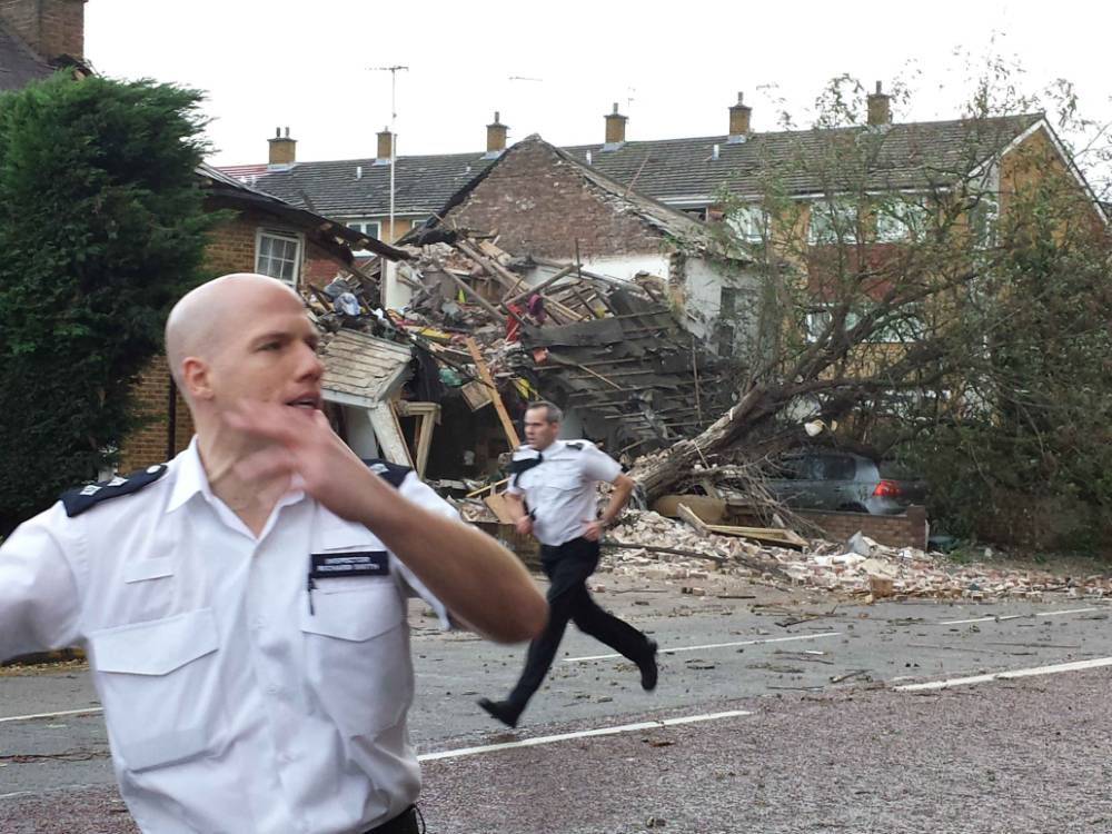 Picture shows a storm damaged house on Bath Road in Hounslow. Britain has been hit by St Jude's storm, bringing 90 mph winds and heavy rain!  Pictured: GV, General View Ref: SPL639563  281013   Picture by: Splash News  Splash News and Pictures Los Angeles: 310-821-2666 New York: 212-619-2666 London: 870-934-2666 photodesk@splashnews.com