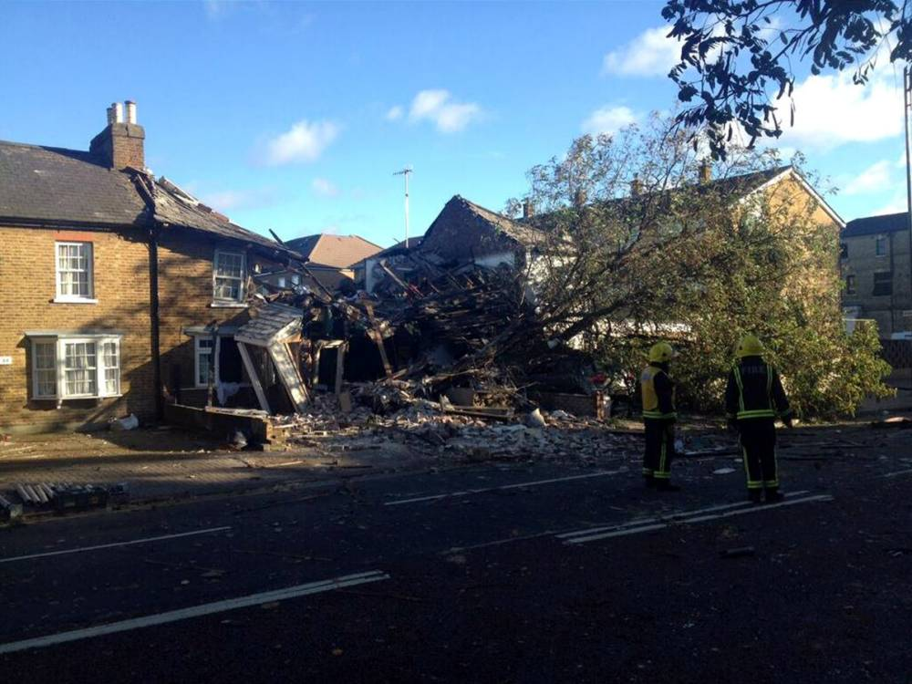 UK storm: Two dead following explosion caused by ruptured gas main in west London