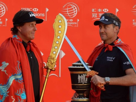 China in their hands: Ian Poulter, Rory McIlroy and Phil Mickelson put to the sword at HSBC Champions launch