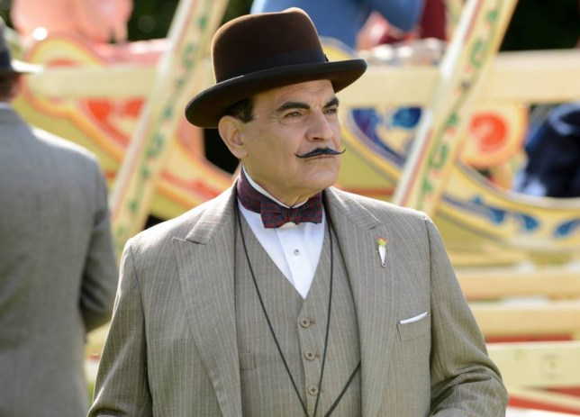 POIROT DEAD MANS FOLLY David Suchet returns as Hercule Poirot in DEAD MANS FOLLY. Pictured: DAVID SUCHET as Poirot. This image is the copyright of ITV and may only be used in relation to Poirot. The image is for one use early, any further use must be cleared through the ITV Picture Desk.