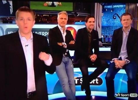 David Ginola can't take banter as Frenchman makes swearing gesture towards Jake Humphrey live on BT Sport