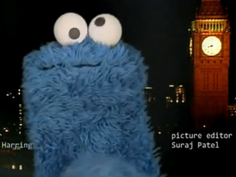 Cookie Monster livens up Newsnight with end-credits appearance on show