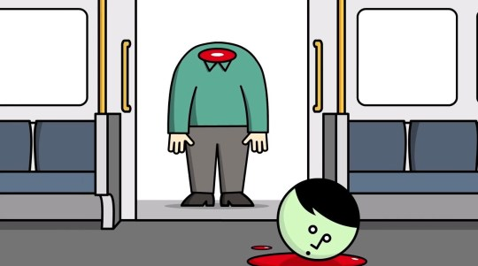 Tyne and Wear metro safety video wanrs against decapitation