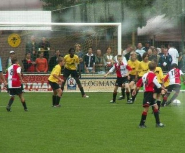 A ten-year-old Lukaku playing for Lierse in 2003 (Picture: Twitter)
