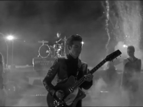 Tractors, models and fireworks in Arctic Monkeys' One For The Road music video