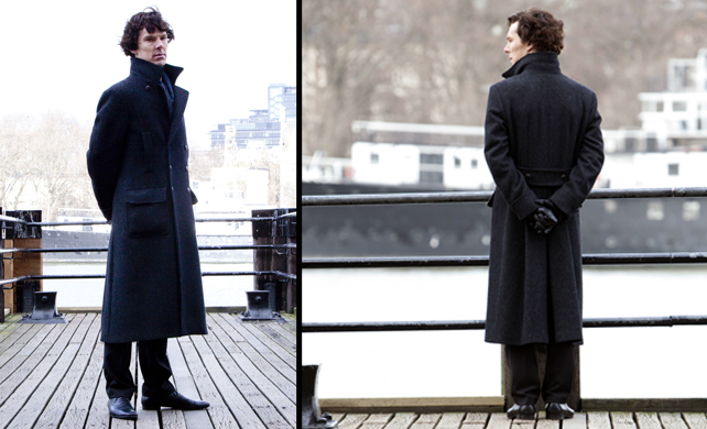 Sherlock: The precaution of a good coat (and a short friend)